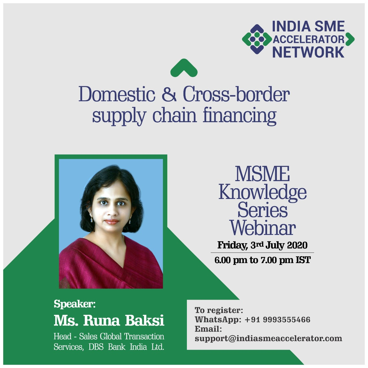 Domestic & cross border supply chain financing