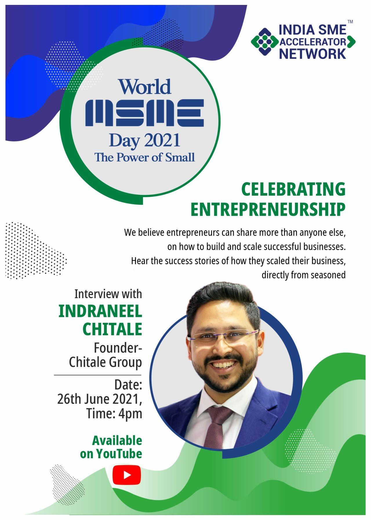 Entrepreneur Speak - Indraneel Chitale